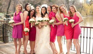 Brautjungfern und Trauzeugen