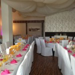 LoveWeddings - Dekoration pink und sonengelb