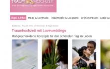 LoveWeddings im Magazin Traumhochzeit